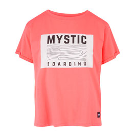 Mystic Charley Tee in Faded Coral