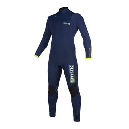Mystic Marshall Fullsuit 5/3mm Fzip Navy Lime