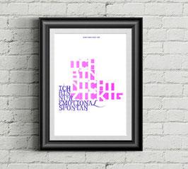 """sprüche poster """"emotional spontan"""""""
