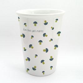 EDITION keregan* pilze-becher aus porzellan mit tassensprüchen