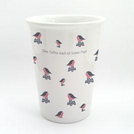 EDITION keregan* vögelchen-becher aus porzellan mit tassensprüchen