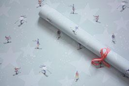 """geschenkpapier bogen """"skifahrer"""""""