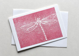 Libelle Holzschnitt