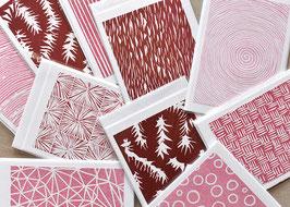 Strukturen rosa-rot Holzschnitt
