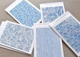 Strukturen blau Holzschnitt