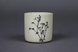 Tasse à expresso - gaillet en fleur