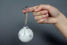 Boules de Noël - décoration en platine