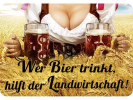 Wer Bier trinkt gilft der Landwirtschaft KH041