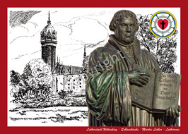 Schlosskirche ∙ Martin Luther ∙ Lutherrose