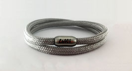 LuWi Segeltau-Armband doppelt | silber