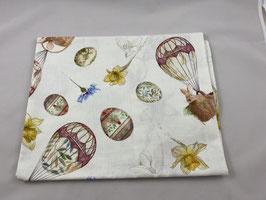 Tischdecke Hase im Heißluftballon