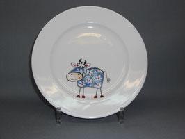 Porzellanteller mit Bunte Kühe