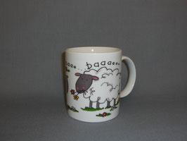 Kaffeebecher mit Schafen