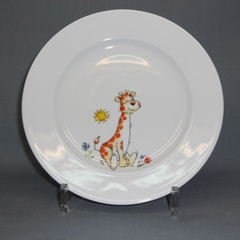Porzellanteller mit Giraffe