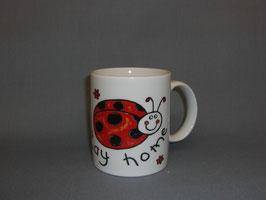 Kaffeebecher mit Marienkäfer