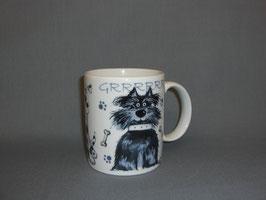 Kaffeebecher mit Streuner Hunden