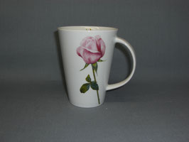 Porzellantasse Monza mit Rose rosa