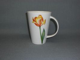 Porzellantasse Monza mit Tulpe gelb