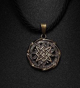 COLLIER SOLEIL AMULETTE VIKING DE PROTECTION