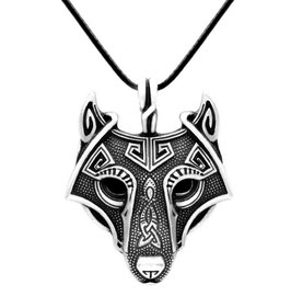 COLLIER AMULETTE PROTECTION LOUP ALPHA