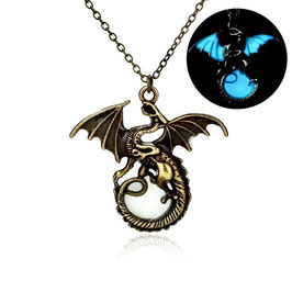 COLLIER FLUORESCENTE DRAGON TARGARYEN GAME OF THRONES