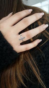 Bague reglable croix