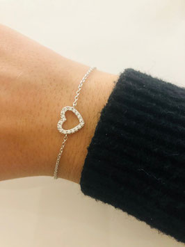 Bracelet coeur oxydes