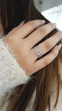 Bague feuille diamant