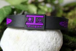 Mingan Power Θ-Ionen Armband lila