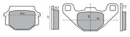 1027050D Pastiglie freno posteriore