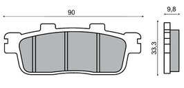 1027124E Pastiglie freno posteriore