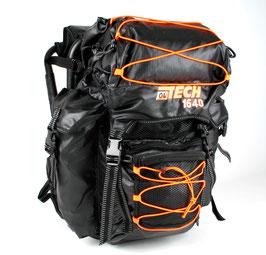 zaino Ol Tech nero/arancio da 40 litri con sgabello - RIF.   L 801