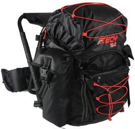 zaino Ol Tech nero/rosso 40 litri con sgabello - RIF.   L 802