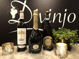 Prosecco met een Spaanse en Italiaanse wijn