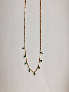 Green Dots Necklace