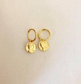 Gold Coin Earrings
