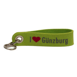 I love Günzburg Schlüsselanhänger