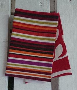 Mouchoirs en tissu Lot de 2 - Rayures et bordeaux