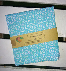 Serviettes de table lot de 2 -  Turquoise