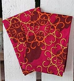 Mouchoirs en tissu Lot de 2 - Rose