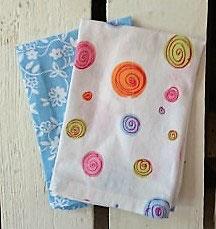 Mouchoirs en tissu Lot de 2 - Rose et bleu