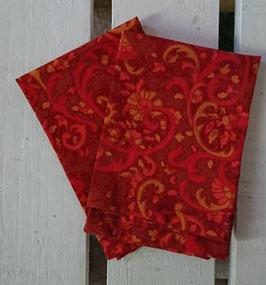 Mouchoirs en tissu Lot de 2 - Rouge