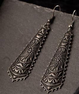 Pendientes tallados  tribal, mod. 2