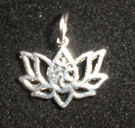 Colgante Flor de loto con símbolo. Mini