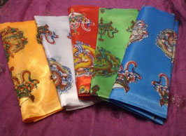 Khata budista tibetana seda 8 símbolos