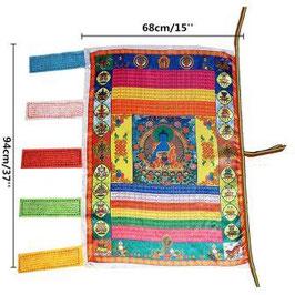 Bandera budista tibetana. Buda Medicina