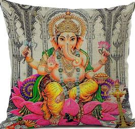 Funda cojin lino y algodón hinduísmo