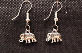 Pendientes alpaca elefantes
