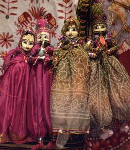 Pareja marionetas Rajasthan