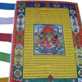 Bandera budista tibetana. Tara verde,